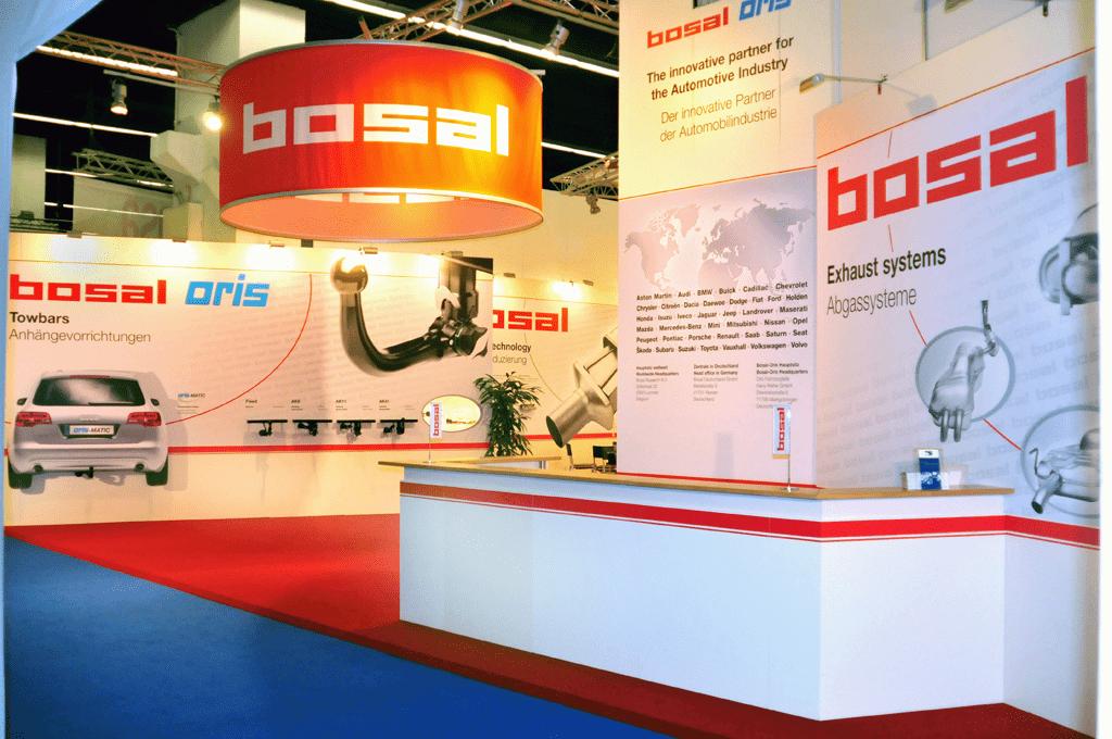 Bosal Frankfurt Logo projectie